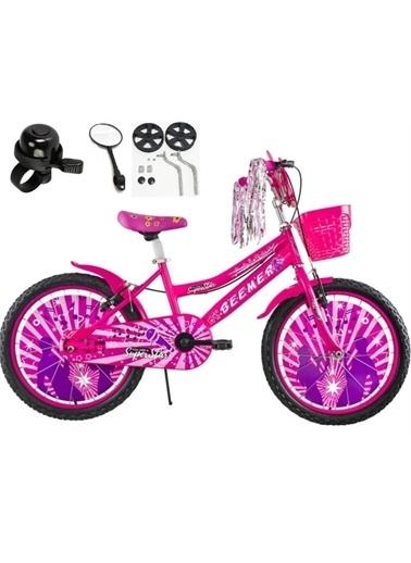 Rival 20 Jant Beemer 7-10 Yaş Arası Çocuk Bisikleti Zil-Ayna-Takviye Denge Tekeri Hediyeli Pembe